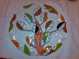 Tree Bowl with paint