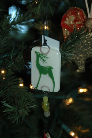 Green Reindeer Ornament 2
