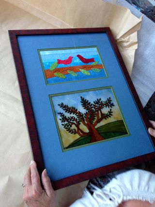Glass and Quilt 1