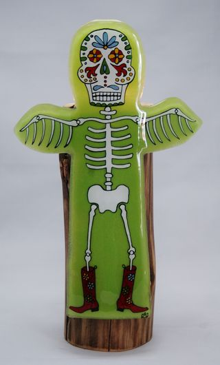 Skeletotem - boots - green 4
