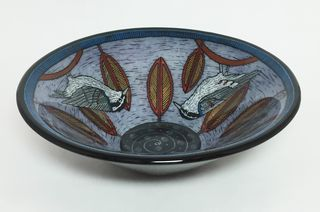 Purple nuthatch bowl 11
