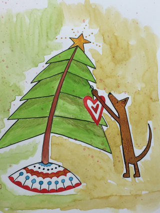 Christmas card painting 2016 2