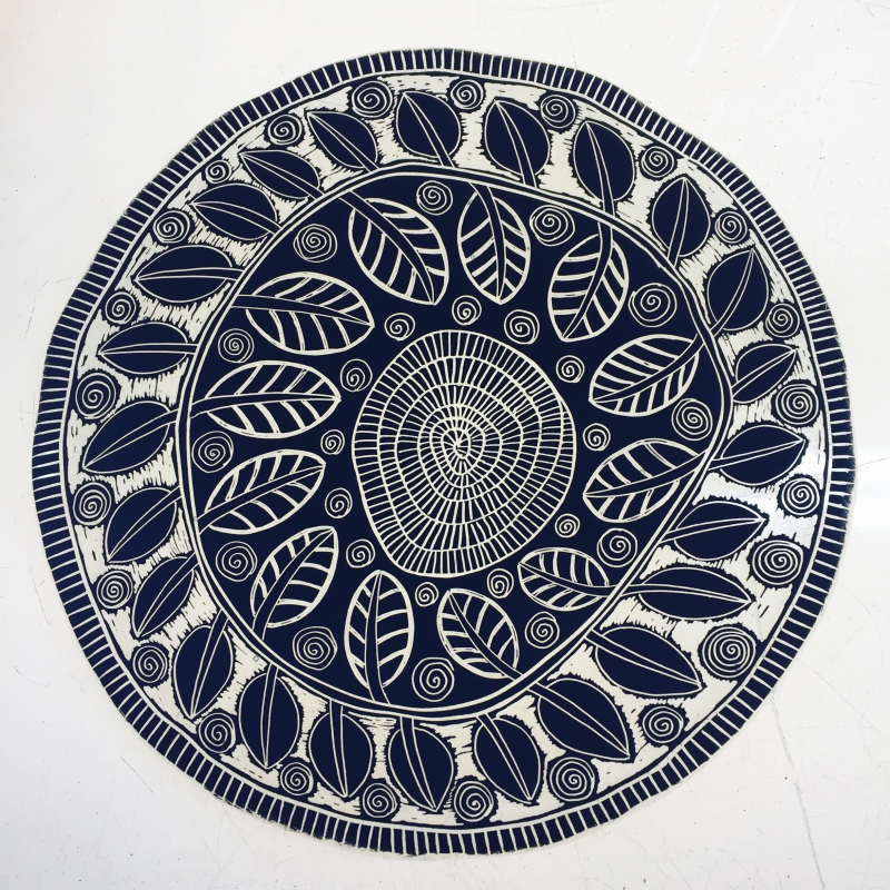 Black and white sgraffito on scrap melt April 2017