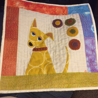 Applique dog quilt April 2017
