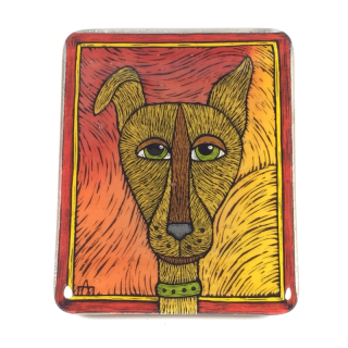DOG ON FIRE TILE 1