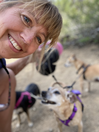 CHERYL AND DOGS MCKAY CREEK JUNE 2020 7