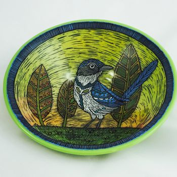 Scrub Jay and Leaves